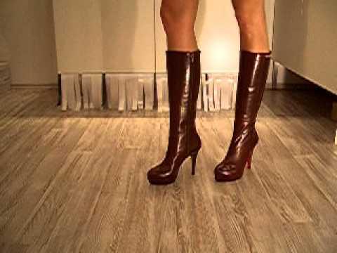 3b767e3f9a471e High Heel Stiefel Cava Braun - YouTube
