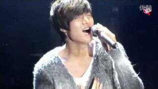 Lee Min Ho new song (be my last love)李敏镐新歌 021211 shanghai fm