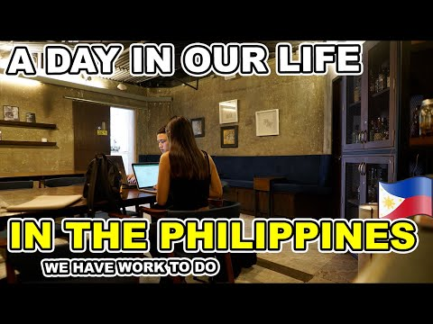 A DAY IN OUR LIFE - Looking for nice places to work in MANILA