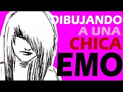 DIBUJANDO A UNA CHICA EMO 2 - HOW TO DRAW WMO GIRL 2