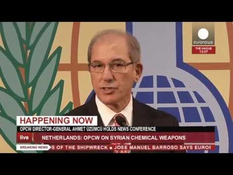 Ahmet Üzümcü (OPCW): Int'l mission to rid Syria of chemical weapons - recorded live feed