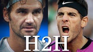 Federer vs Del Potro - All 24 H2H Match Points (HD)