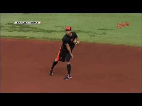 J.J. Hardy takes grounders at Tropicana Field