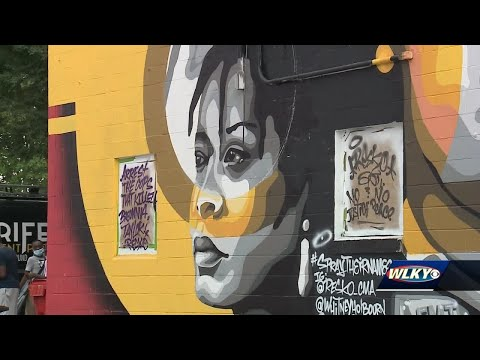 Mural Of Breonna Taylor David Mcatee George Floyd Unveiled In Portland Youtube