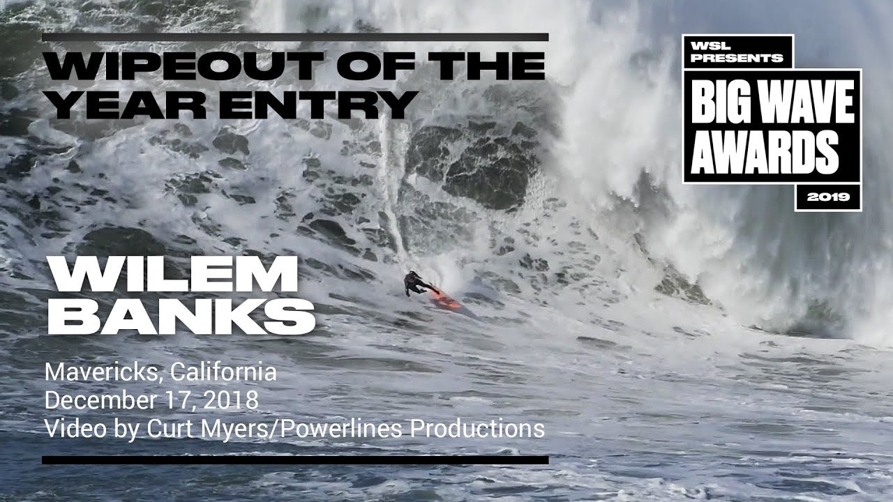 Wilem Banks at Mavericks - 2019 Wipeout of the Year Entry - WSL Big Wave  Award