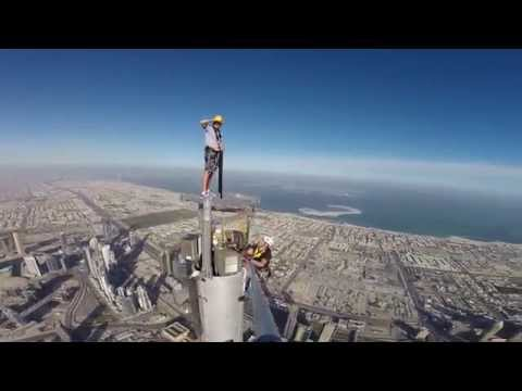 Burj Khalifa – Platform inspection top of the spire Andy Veall