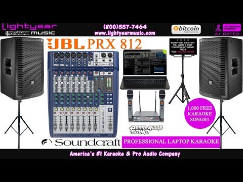 JBL PRX 812 | Professional Karaoke Laptop System | With FREE Karaoke Songs Complete Karaoke System ✅