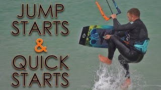 Gambar cover Jump Starts and Quick Starts (twintip kiteboard tutorial)