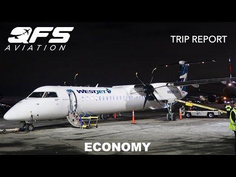 TRIP REPORT | WestJet Encore - Bombardier Dash 8 Q400 - Toronto (YYZ) To Quebec City (YQB) | Economy