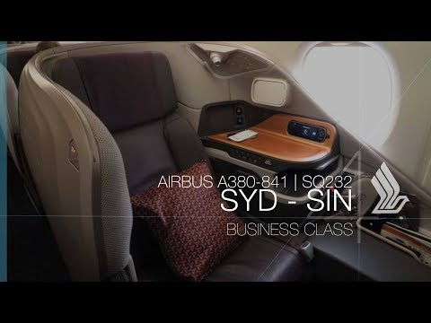 Singapore Airlines A380 New Business Class Experience | SQ232 SYD-SIN