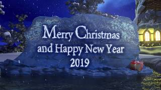 Merry Christmas and Happy New Year 2019 - New Year's Greeting