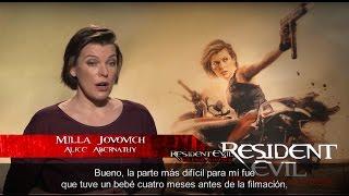 Milla Jovovich y Ali Larter nos cuentan detalles de Resident Evil: El Capitulo Final