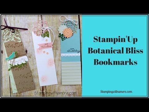 Stampin 'Up Botanical Bliss Bookmarks