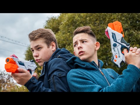 Nerf Battle // Битва лазером // Нёрф Laser Ops Pro // Дизмон