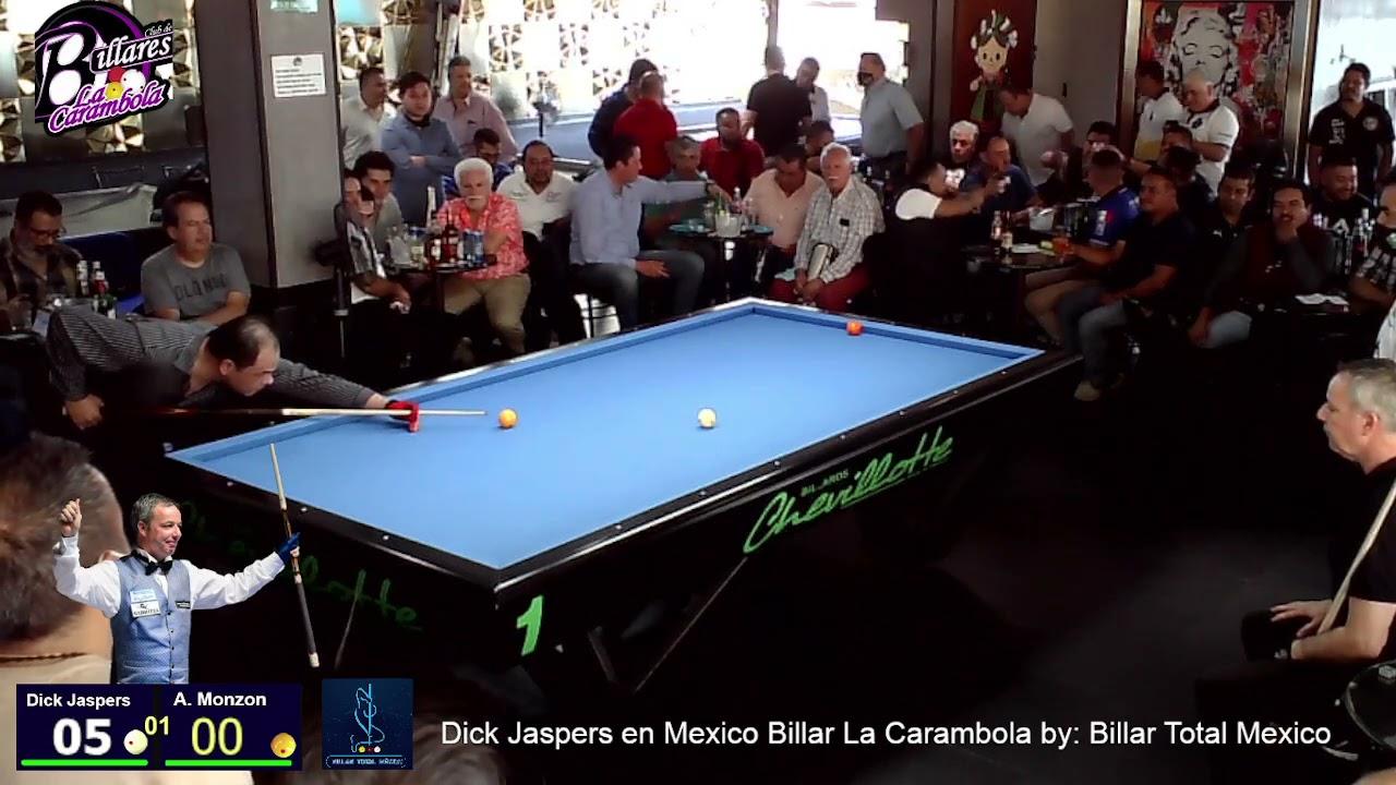 Dick Jaspers Hol vs Monzón   By: Billar Total MéxicoBillar La carambola