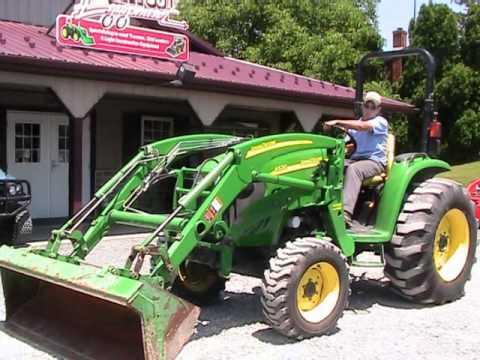 John Deere 4520 Tractor 400X Loader on EBay - YouTube