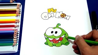 How to draw MY OM NOM (Cute the Rope) | Cómo dibujar a Om Nom