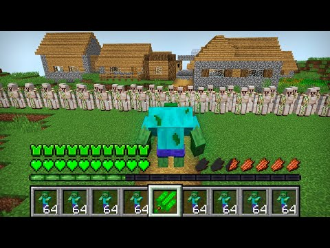 HOW THE MUTANT ZOMBIE ATTACKED THIS VILLAGE IN MINECRAFT Inventory Noob vs Pro
