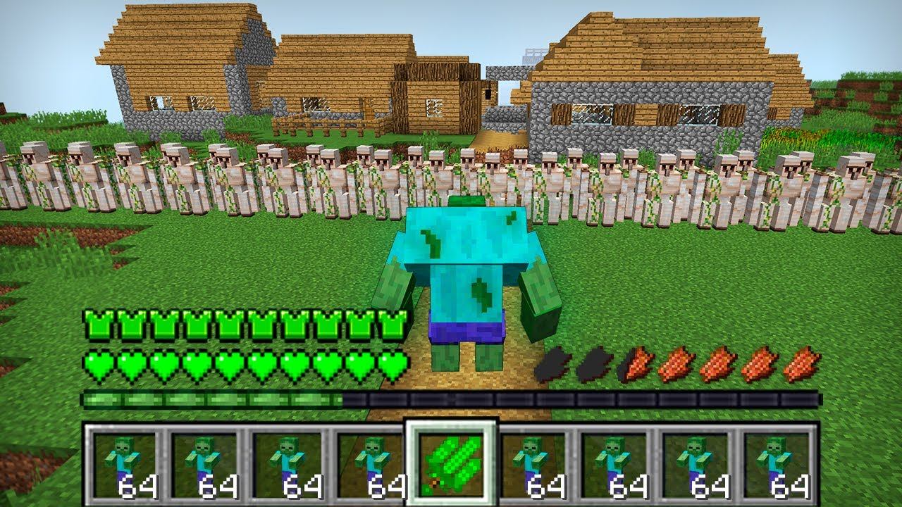 Download HOW THE MUTANT ZOMBIE ATTACKED THIS VILLAGE IN MINECRAFT Inventory Noob vs Pro