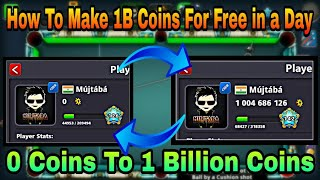 0 Coins To 1 Billion Coins - 8 Ball Pool By Miniclip - Fastest Coins Increase Ever