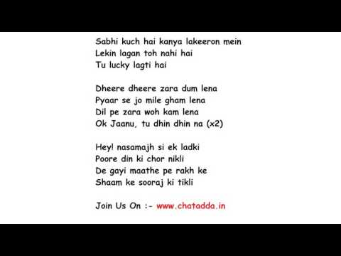 OK JAANU  Lyrics Full Song Lyrics Movie -...