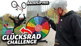 GLÜCKSRAD BMX CHALLENGE 😲🌈 BACKFLIP FAIL ?