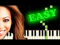 Gambar cover BEYONCE - IF I WERE A BOY - Easy Piano Tutorial