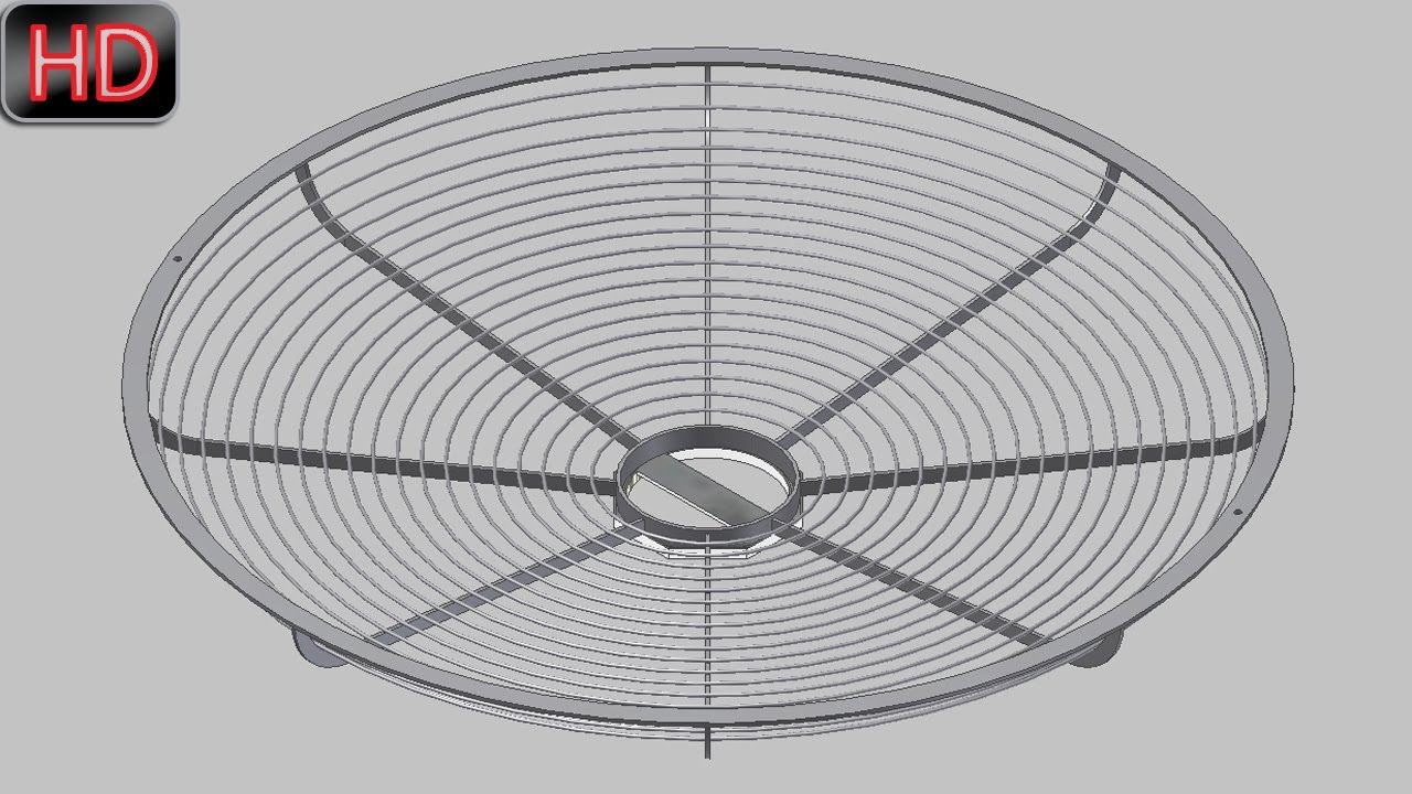 creating and placing of wires in mesh of table fan  video
