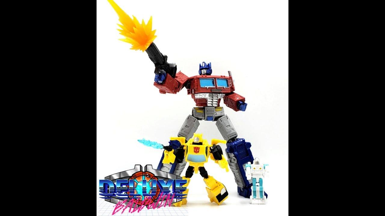 War for Cybertron Buzzworthy Bumblebee & Spike by Deluxe Baldwin