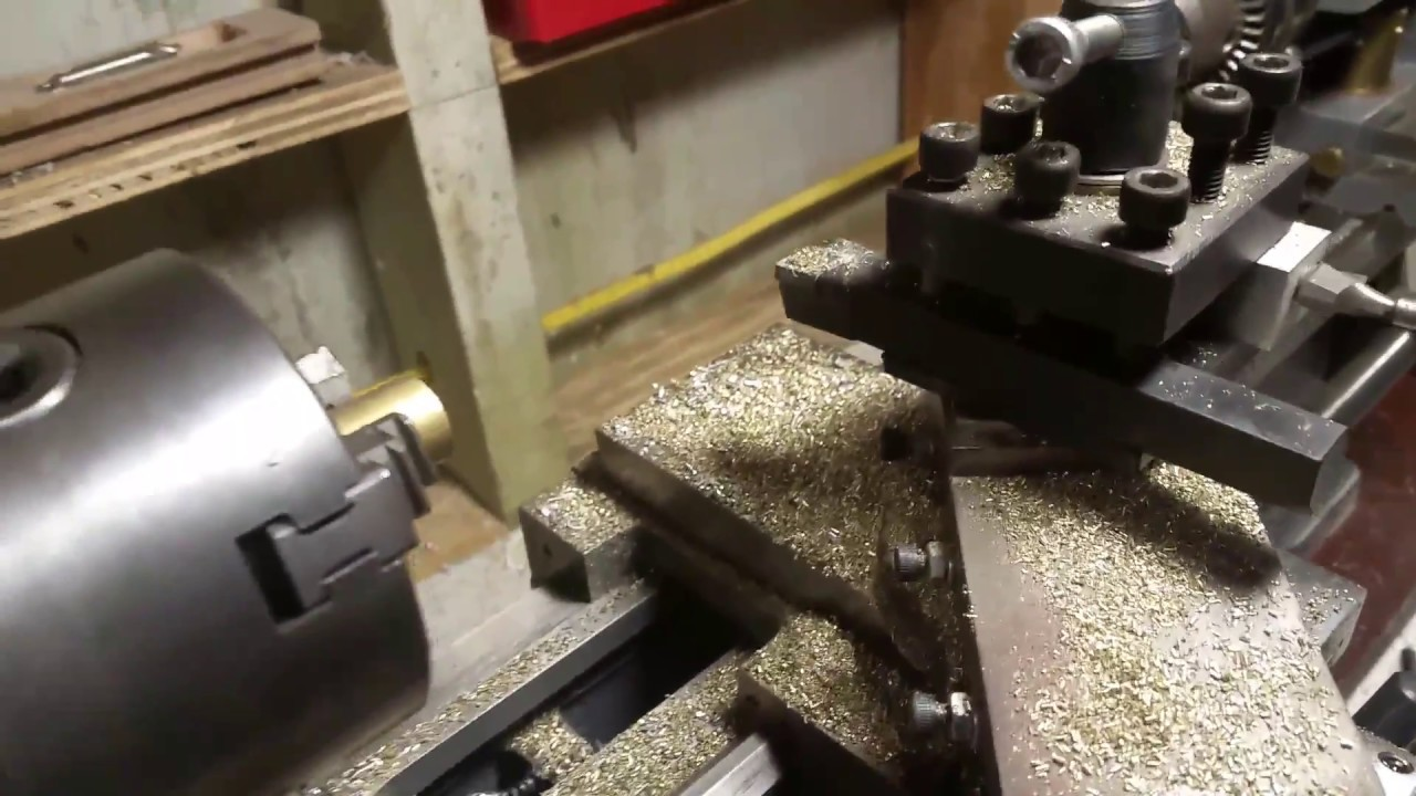 mini lathe 45 degree cutting setup youtube Mini Lather mini lathe 45 degree cutting setup