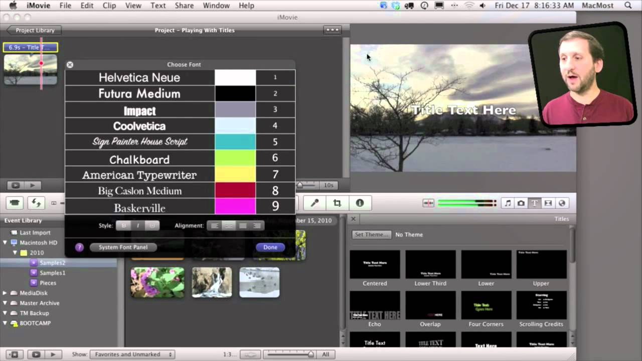 iMovie Title Tricks (MacMost Now 491)