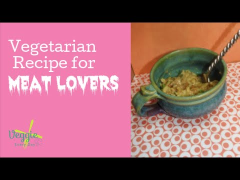 VEGETARIAN COMFORT FOOD: Vegetarian Swedish Meatballs Crockpot Vegetarian Recipe