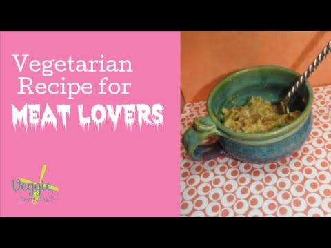 VEGETARIAN COMFORT FOOD: Vegetarian Swedish Meatballs Crockpot Vegetarian Recipe