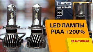 Японские LED лампы PIAA H4 +20…