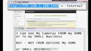TUTORIAL: How to see my ip Wireless Security Camera (ezCam, FOSCAM) - Outside of my Home / Network