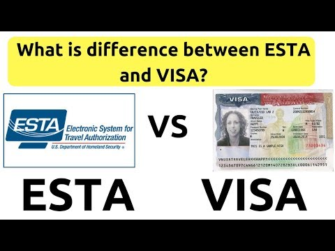 What Is Difference Between ESTA And VISA Travel Authorization ESTA. Visa Waiver Program