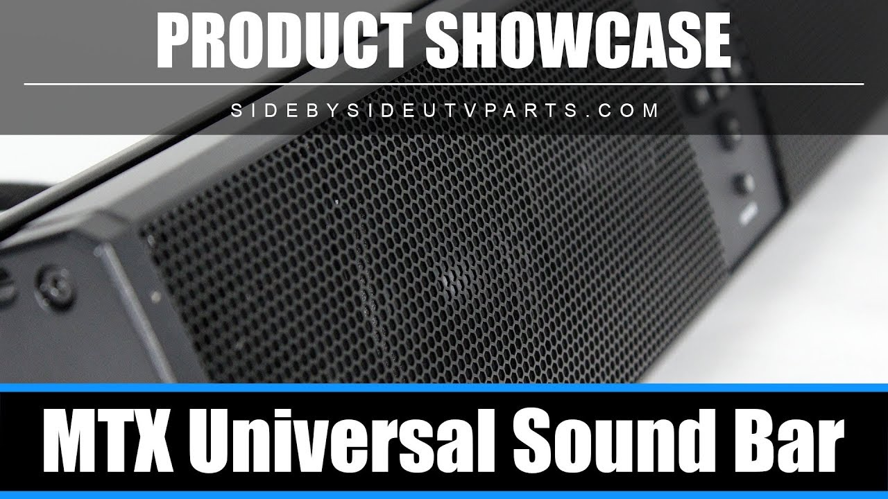 Side By Side Product Showcase Mtx Sound Bar Youtube