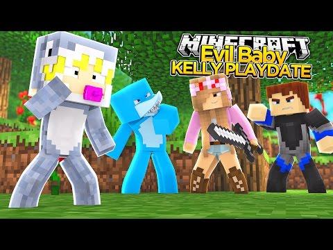 Minecraft - EVIL BABY KELLY PLAYDATE WITH BABY SYDNEY!!!
