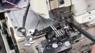 How to do timing in a 4 thread overlock sewing machine