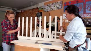 DIY-expert, Carla teams up with Jenny-May to make a safe baby gate for the māhanga (twins) on Whānau Living Follow us!