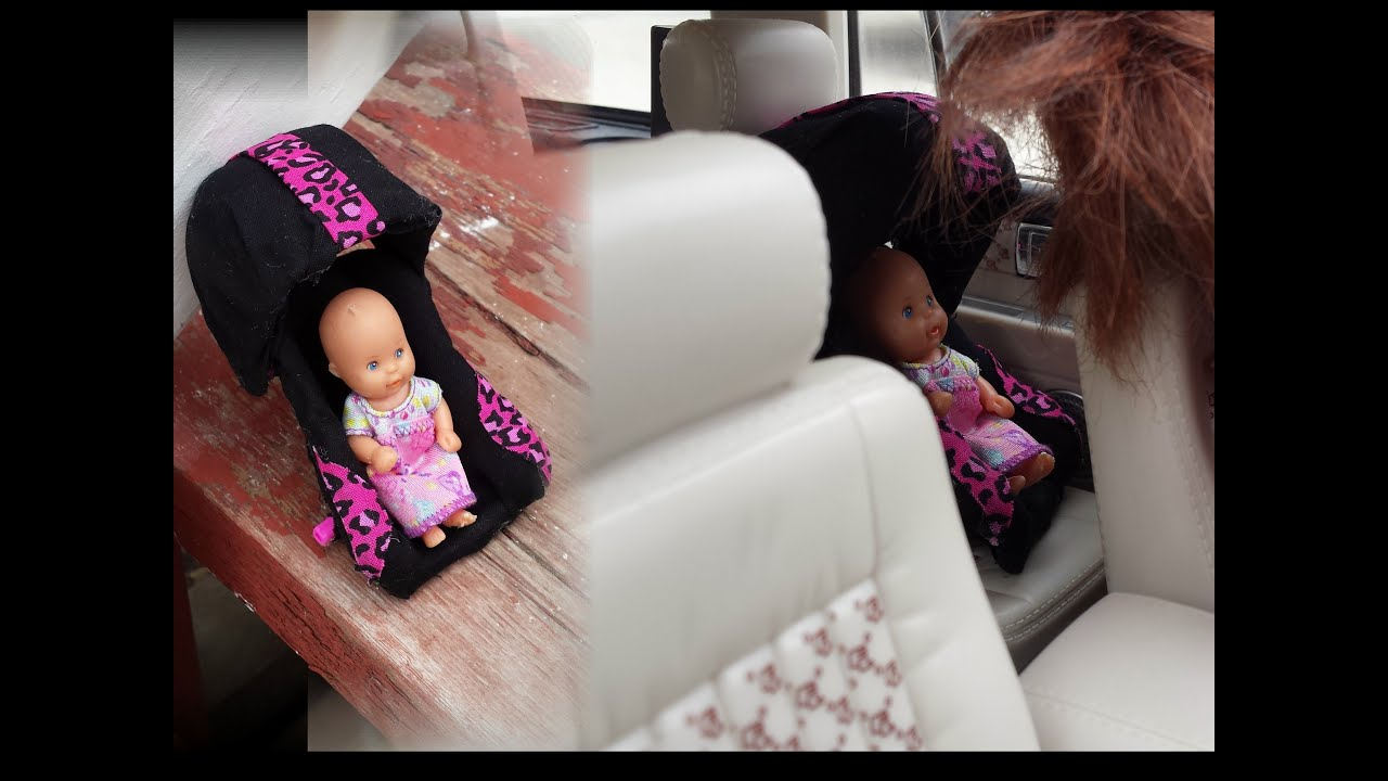 How To Make A Doll Car Seat Youtube