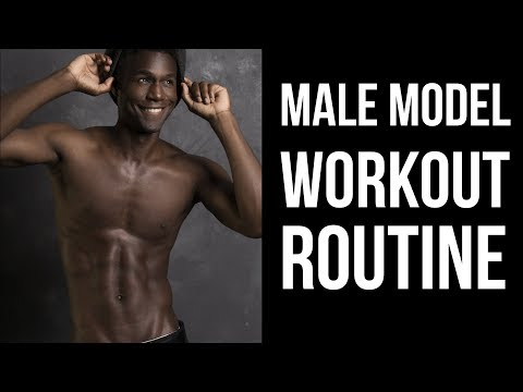 A Day in the Gym   Male Model Workout