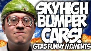 """GTA 5: SKY HIGH BUMPER CARS!! """"GTA5 FUNNY MOMENTS"""" & FAILS!! #GOONSQUAD"""