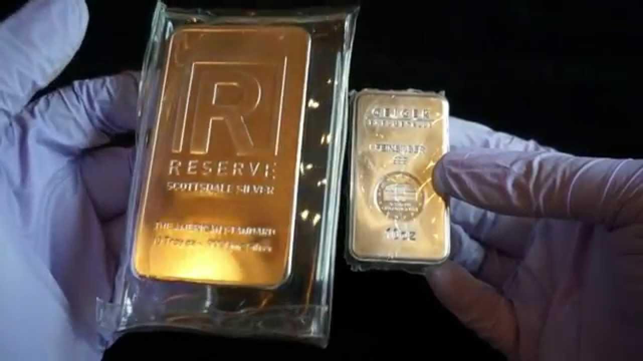 Silver Unboxing 10oz Geiger Metal Bar Youtube