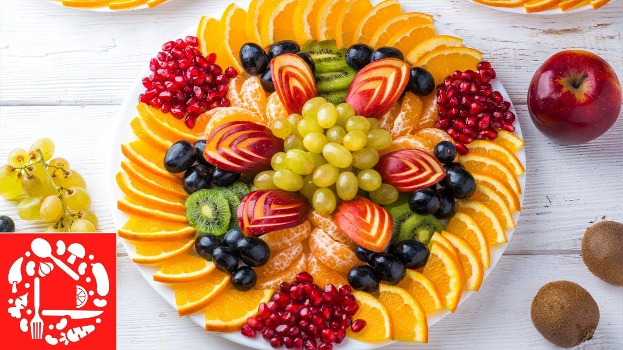 Красивая Фруктовая Нарезка на Праздничный стол! Три фруктовые тарелки на Новый год 2020!