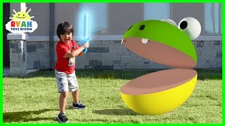 Pac-Man In Real Life vs Ryan!!!!
