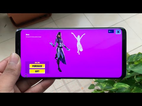 "Redeeming ""GLOW SKIN"" In Fortnite On Galaxy S9"