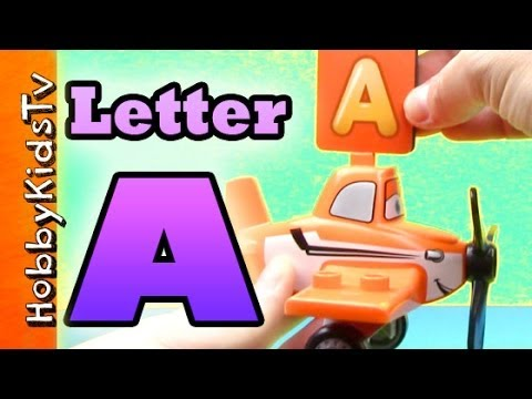 learn letter a using real items alphabet for kids preschoolersteaching toddlers esl