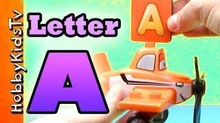 Learning Letters using Alphabet + Toys on HobbyKidsTV
