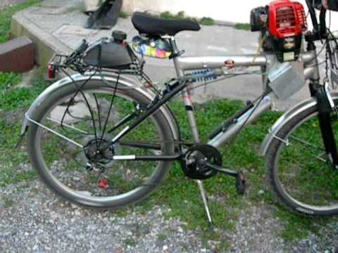 Bicicletta A Pedalata Assistita Da Motore A Scoppio Youtube